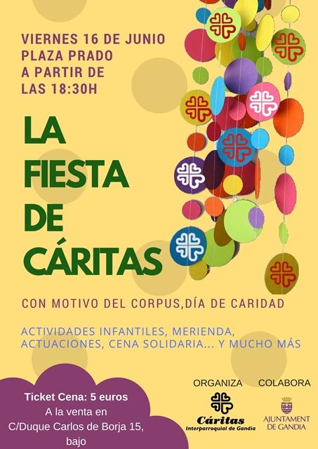 Cartel Fiesta CáritasFacebook