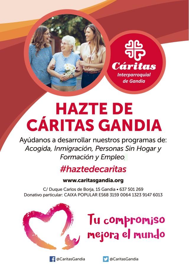 AF_CartelA3_CaritasGandia_TRAZ